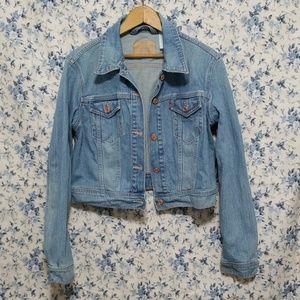 Levi's cropped Denim  Jean jacket light color
